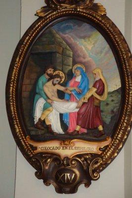 jesus på korset maria